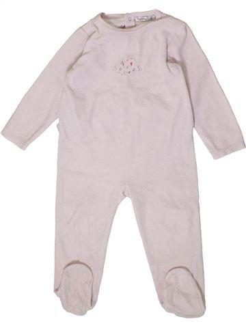 Pijama de 1 pieza niña BOUT'CHOU blanco 2 años invierno #1404183_1