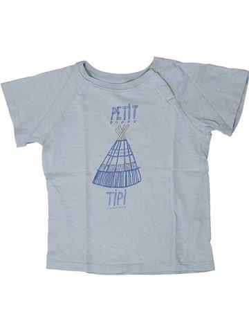 T-shirt manches courtes garçon CADET ROUSSELLE gris 4 ans été #1404256_1