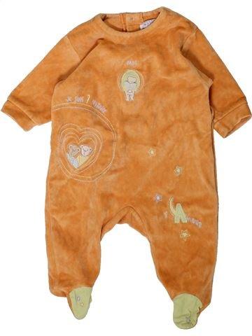 Pyjama 1 pièce garçon NATALYS orange 3 mois hiver #1406873_1