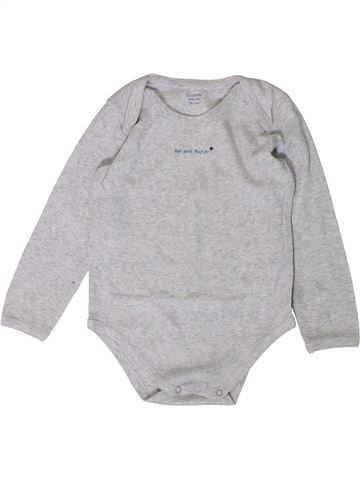 T-shirt manches longues garçon BOUT'CHOU gris 3 ans hiver #1407183_1