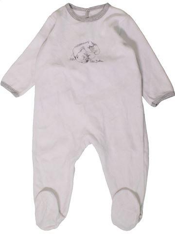 Pyjama 1 pièce garçon PETIT BATEAU blanc 18 mois hiver #1407455_1