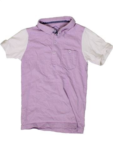 Polo manches courtes garçon BOYS violet 6 ans été #1408622_1