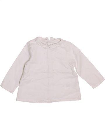 Blusa de manga larga niña CYRILLUS blanco 9 meses invierno #1409627_1