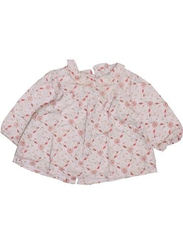 Blouse manches longues fille OKAIDI rose 6 mois hiver #1409629_1