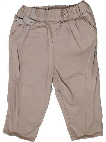 Pantalon fille CYRILLUS gris 9 mois été #1410170_1