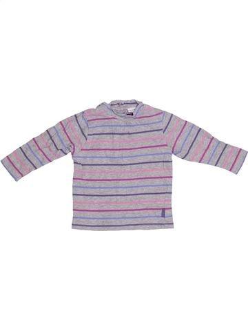 T-shirt manches longues fille P'TIT BISOU gris 12 mois hiver #1410422_1