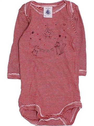 T-shirt manches longues unisexe PETIT BATEAU rose 3 mois hiver #1410958_1