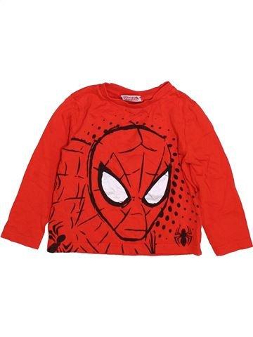 T-shirt manches longues garçon SUPERS HÉROS rouge 3 ans hiver #1412097_1