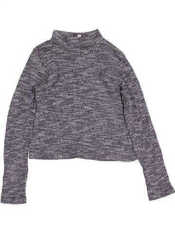 T-shirt manches longues fille MISS E-VIE gris 8 ans hiver #1413831_1