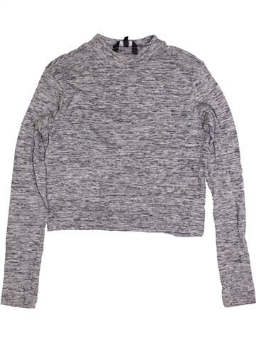 T-shirt manches longues fille NEW LOOK gris 15 ans hiver #1414111_1