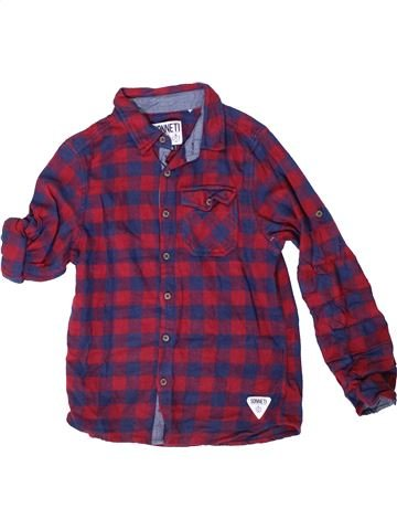 Chemise manches longues garçon SONNETI violet 13 ans hiver #1414502_1