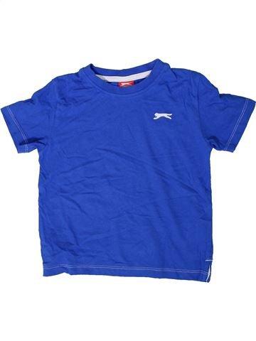 T-shirt manches courtes garçon SLAZENGER bleu 4 ans été #1414786_1