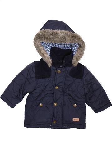 Manteau garçon DEBENHAMS bleu 9 mois hiver #1414828_1