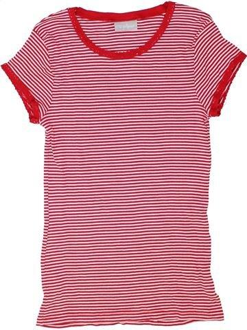 T-shirt manches courtes fille I LOVE GIRLSWEAR rose 13 ans été #1416807_1