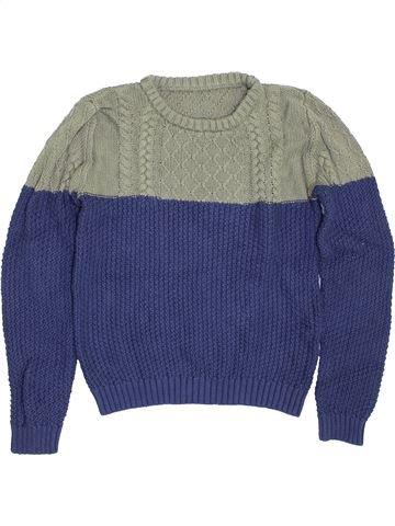 Pull garçon LILY & DAN bleu 10 ans hiver #1416884_1