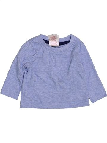 T-shirt manches longues garçon PEACOCK'S bleu 3 mois hiver #1417024_1