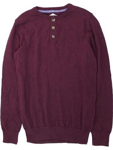 Pull garçon BOYS violet 13 ans hiver #1417965_1
