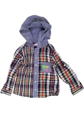 Chemise manches longues garçon M&CO violet 2 ans hiver #1418335_1