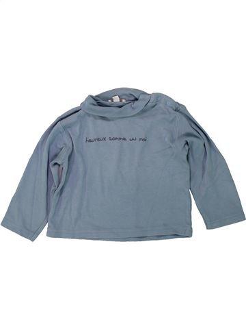 T-shirt col roulé garçon GRAIN DE BLÉ bleu 2 ans hiver #1418922_1