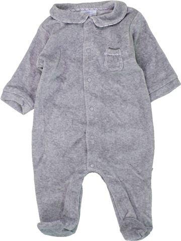 Pijama de 1 pieza niño JACADI gris 3 meses invierno #1419046_1