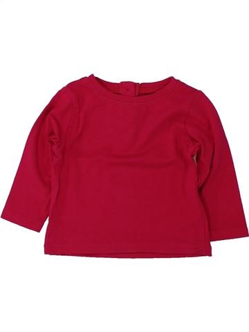 T-shirt manches longues fille DPAM rouge 6 mois hiver #1419071_1