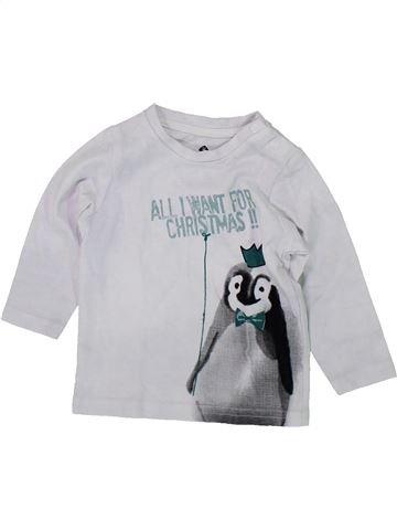 T-shirt manches longues garçon GRAIN DE BLÉ gris 6 mois hiver #1419661_1
