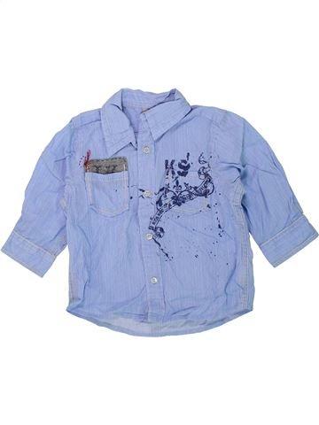 Chemise manches longues garçon IKKS bleu 12 mois hiver #1419762_1