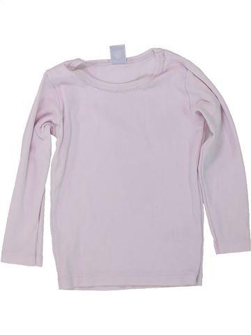 T-shirt manches longues fille PETIT BATEAU blanc 3 ans hiver #1419988_1