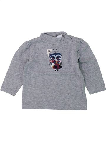 T-shirt manches longues fille CADET ROUSSELLE gris 6 mois hiver #1420056_1