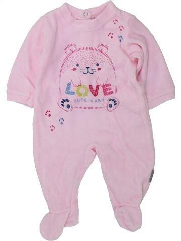 Pijama de 1 pieza niña ABSORBA rosa 1 mes invierno #1420554_1