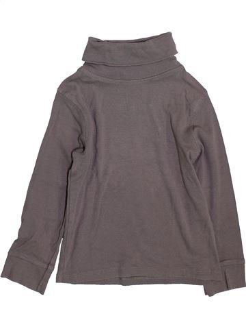 Camiseta de cuello alto niña LA REDOUTE CRÉATION gris 4 años invierno #1420563_1
