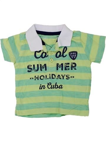 Polo de manga corta niño GEMO verde 3 meses verano #1420579_1