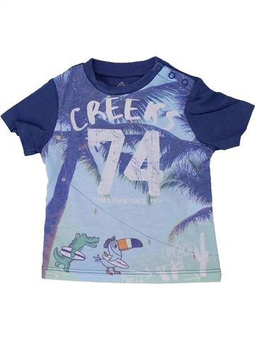 T-shirt manches courtes garçon CREEKS bleu 3 mois été #1420580_1