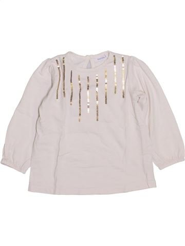 T-shirt manches longues fille BOUT'CHOU blanc 12 mois hiver #1420593_1