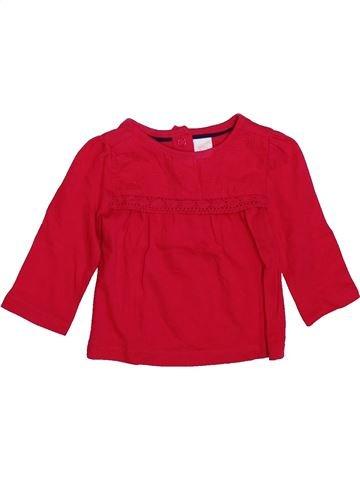 Camiseta de manga larga niña C&A rojo 6 meses invierno #1420612_1
