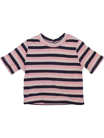 T-shirt manches courtes fille RIVER ISLAND rose 3 ans été #1420672_1
