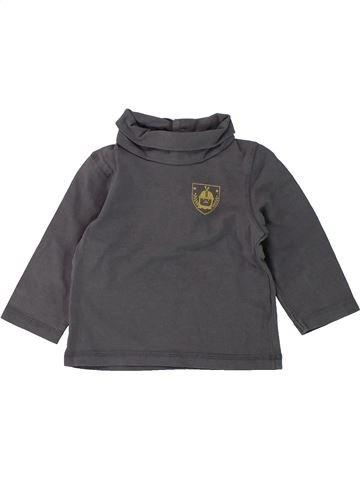 Camiseta de cuello alto niño VERTBAUDET gris 12 meses invierno #1420684_1