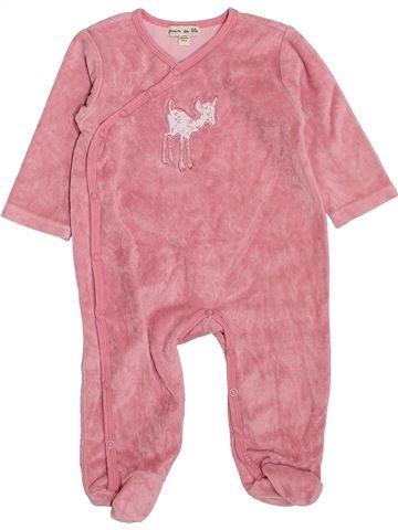 Pyjama 1 pièce fille GRAIN DE BLÉ rose 6 mois hiver #1420764_1