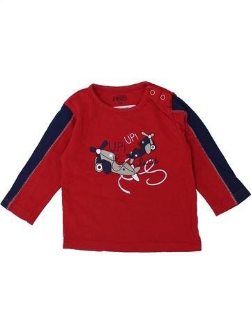 T-shirt manches longues garçon LA COMPAGNIE DES PETITS rouge 12 mois hiver #1420840_1