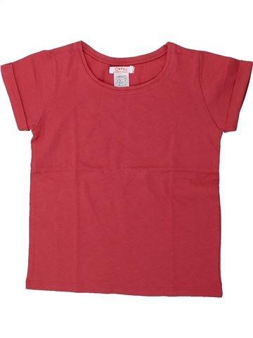T-shirt manches courtes fille LA REDOUTE CRÉATION rouge 5 ans été #1420886_1