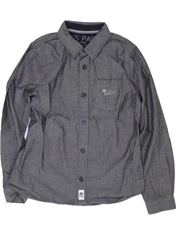 Chemise manches longues garçon IKKS gris 8 ans hiver #1420965_1