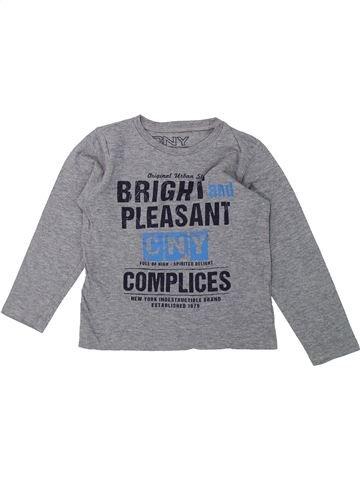 T-shirt manches longues garçon COMPLICES gris 5 ans hiver #1421244_1