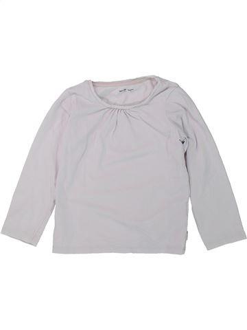 Camiseta de manga larga niña VERTBAUDET blanco 4 años invierno #1421417_1