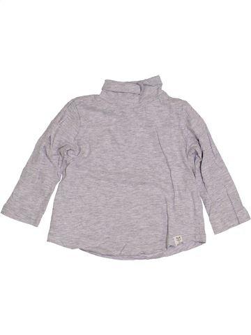 Camiseta de cuello alto niño ZARA gris 18 meses invierno #1421603_1