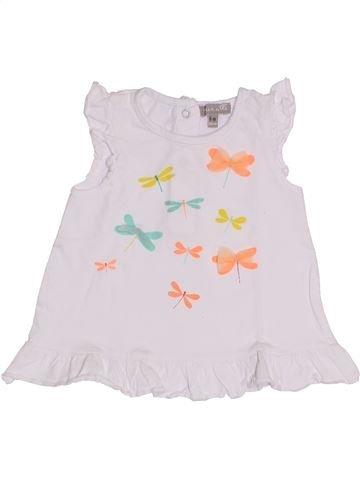 T-shirt manches courtes fille GRAIN DE BLÉ blanc 6 mois été #1421680_1