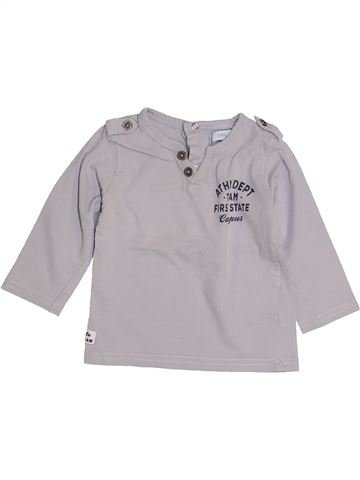 Camiseta de manga larga niño GEMO gris 12 meses invierno #1421703_1