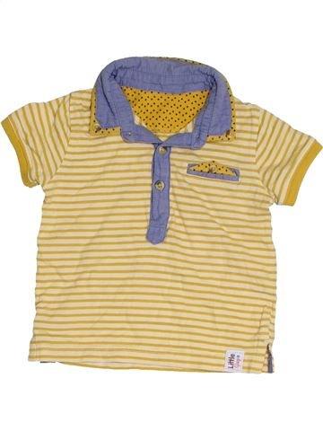 Polo manches courtes garçon M&CO beige 12 mois été #1421773_1