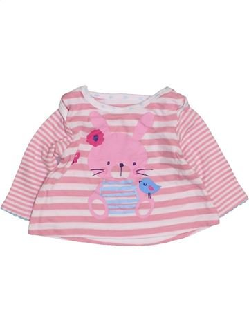 T-shirt manches longues fille PEP&CO rose naissance hiver #1422323_1