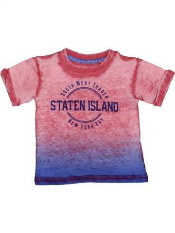 T-shirt manches courtes garçon RIVER ISLAND rose 9 mois été #1422511_1