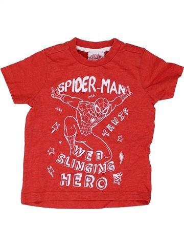 T-shirt manches courtes garçon SUPERS HÉROS rouge 18 mois été #1422618_1